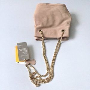 H&M Suede Leather Pink Blush Bag